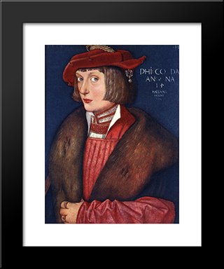 Count Philip: Modern Black Framed Art Print by Hans Baldung
