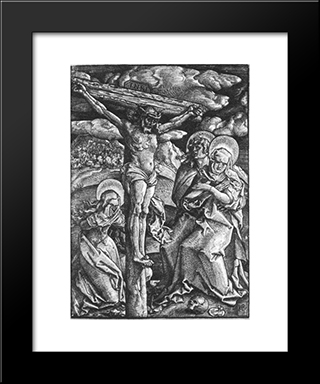 Crucifixion: Modern Black Framed Art Print by Hans Baldung