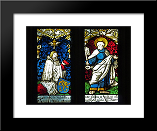 Grien In The Church St. George Gutach Bleienbach: Modern Black Framed Art Print by Hans Baldung