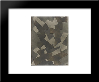 Abstract Composition: Modern Black Framed Art Print by Hans Richter