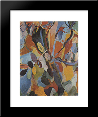 Autumn: Modern Black Framed Art Print by Hans Richter