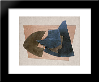 Cohesion Vii: Modern Black Framed Art Print by Hans Richter