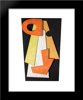 Dada Head: Modern Black Framed Art Print by Hans Richter