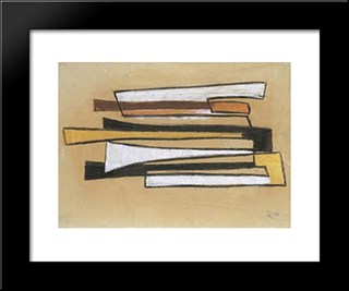 Dymo Sketch Ii: Modern Black Framed Art Print by Hans Richter