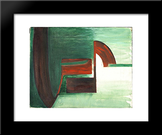 Gesture Series - No. 209: Modern Black Framed Art Print by Hans Richter