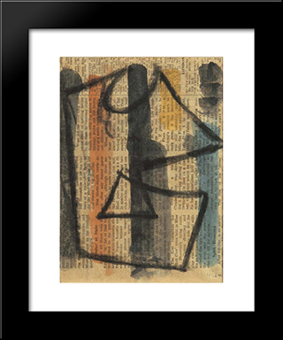 Plakatentwurf: Modern Black Framed Art Print by Hans Richter