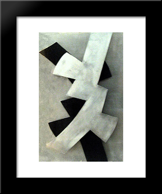 Pro Contra Variation: Modern Black Framed Art Print by Hans Richter