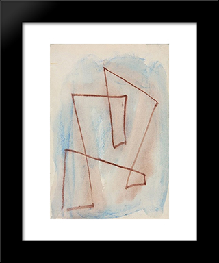 Sketch For Labyrinth - No. 301: Modern Black Framed Art Print by Hans Richter