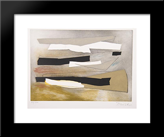 Sur Une Jambe: Modern Black Framed Art Print by Hans Richter