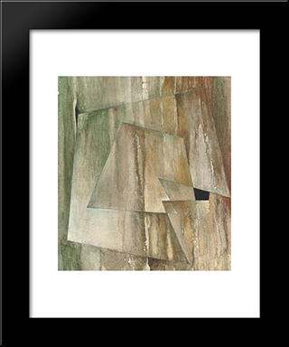 Testa 2: Modern Black Framed Art Print by Hans Richter