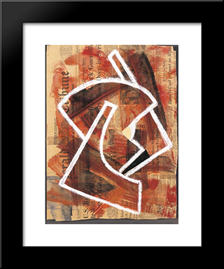 Untitled: Modern Black Framed Art Print by Hans Richter