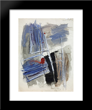 Untitled - No. 817B: Modern Black Framed Art Print by Hans Richter