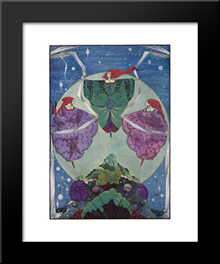 Fairy Tales By Hans Christian Andersen: Modern Black Framed Art Print by Harry Clarke