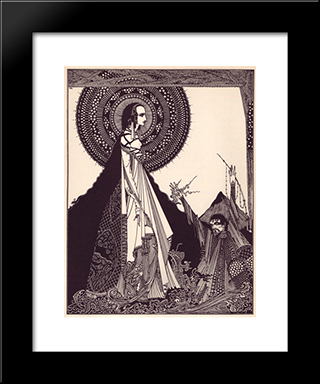 Tales Of Mystery And Imagination By Edgar Allan Poe: Modern Black Framed Art Print by Harry Clarke