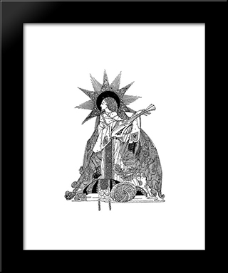 The Year'S At The Spring: Modern Black Framed Art Print by Harry Clarke