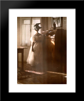 Mary Warner A Contre-Jour: Modern Black Framed Art Print by Heinrich Kuhn