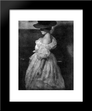 Miss Mary: Modern Black Framed Art Print by Heinrich Kuhn