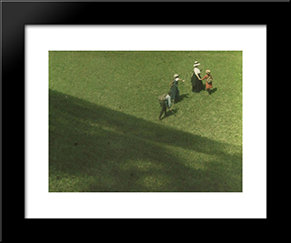 Picnic On A Hill: Modern Black Framed Art Print by Heinrich Kuhn