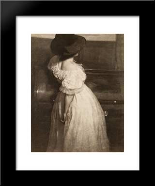 Study In Tonal Values Iii (Mary Warner): Modern Black Framed Art Print by Heinrich Kuhn