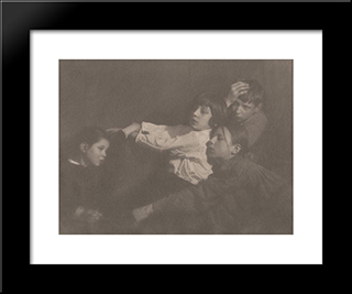 The Kuhn Children, Tyrol: Modern Black Framed Art Print by Heinrich Kuhn