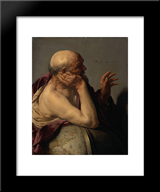 Heraclitus: Modern Black Framed Art Print by Hendrick Terbrugghen