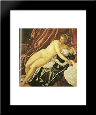 Leda And The Swan: Modern Black Framed Art Print by Hendrick Terbrugghen
