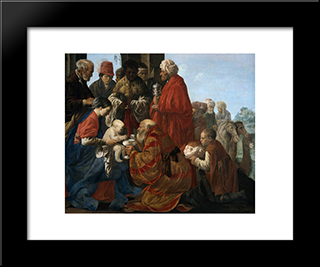 The Adoration Of The Magi: Modern Black Framed Art Print by Hendrick Terbrugghen