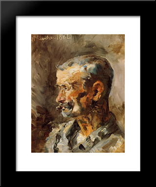 A Worker At Celeyran: Modern Black Framed Art Print by Henri de Toulouse Lautrec