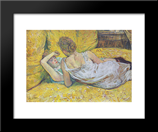 Abandonment (The Pair): Modern Black Framed Art Print by Henri de Toulouse Lautrec