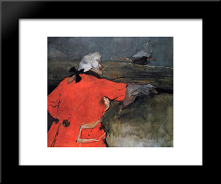 Admiral Viaud: Modern Black Framed Art Print by Henri de Toulouse Lautrec