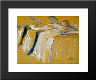 Alone (Elles): Modern Black Framed Art Print by Henri de Toulouse Lautrec