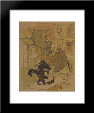 Ambroise Thomas Assistant At A Rehearsal Of Francoise De Rimini: Custom Black Wood Framed Art Print by Henri de Toulouse Lautrec