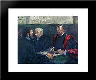 An Examination At The Faculty Of Medicine, Paris: Modern Black Framed Art Print by Henri de Toulouse Lautrec