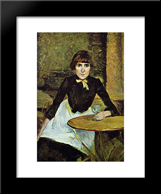 At La Bastille (Portrait Of Jeanne Wenz): Modern Black Framed Art Print by Henri de Toulouse Lautrec
