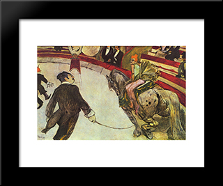 At The Circus Fernando, The Rider: Modern Black Framed Art Print by Henri de Toulouse Lautrec