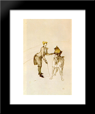 At The Circus The Animal Trainer: Modern Black Framed Art Print by Henri de Toulouse Lautrec