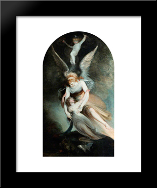 The Apothesis Of Penelope Boothby: Modern Black Framed Art Print by Henry Fuseli