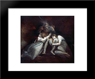 The Death Of Oedipus: Modern Black Framed Art Print by Henry Fuseli