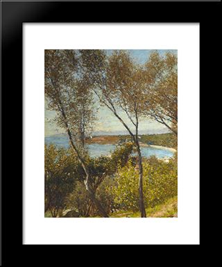 A Ligurian Bay: Modern Black Framed Art Print by Henry Herbert La Thangue