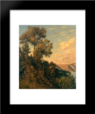 A Ligurian Gulf: Modern Black Framed Art Print by Henry Herbert La Thangue