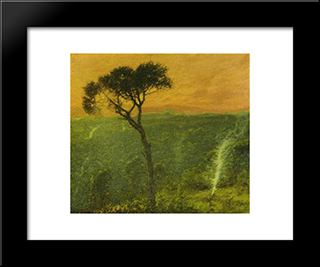 A Ligurian Valley, Italy: Modern Black Framed Art Print by Henry Herbert La Thangue
