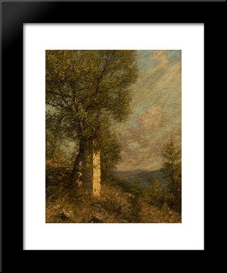 A Provencal Morning: Modern Black Framed Art Print by Henry Herbert La Thangue