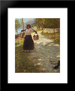 A Veronese Road: Modern Black Framed Art Print by Henry Herbert La Thangue
