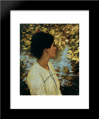 An Andalucian: Modern Black Framed Art Print by Henry Herbert La Thangue