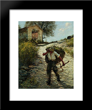 Ancient Provencal Road: Modern Black Framed Art Print by Henry Herbert La Thangue