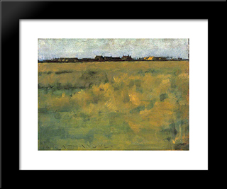 Farm Near Horsey, Norfolk: Modern Black Framed Art Print by Henry Herbert La Thangue
