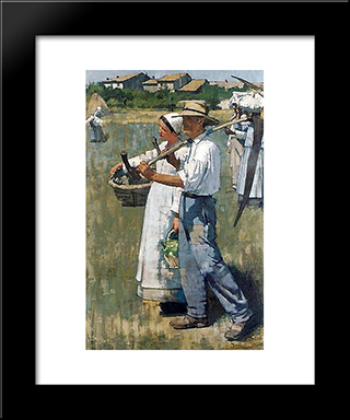 In The Dauphine: Modern Black Framed Art Print by Henry Herbert La Thangue