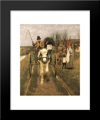 Leaving Home: Modern Black Framed Art Print by Henry Herbert La Thangue