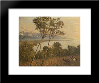 Ligurian Artrobus: Modern Black Framed Art Print by Henry Herbert La Thangue
