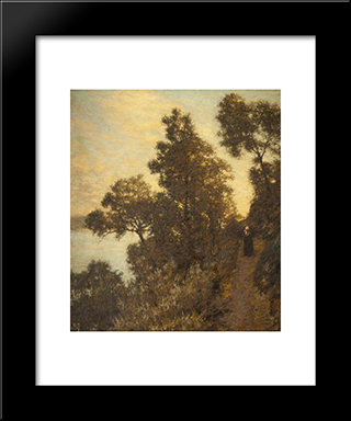 Ligurian Bridle Path: Modern Black Framed Art Print by Henry Herbert La Thangue